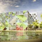 rendering tentoonstellinggebouw
